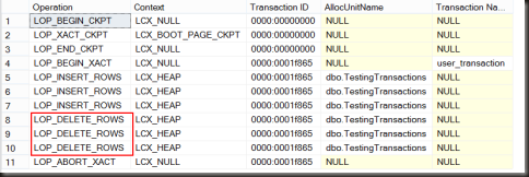 TransactionLogRollbackTransaction